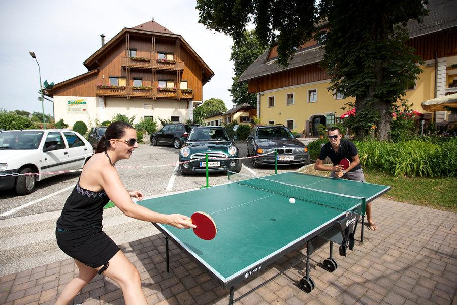 Ping pong nell giardino